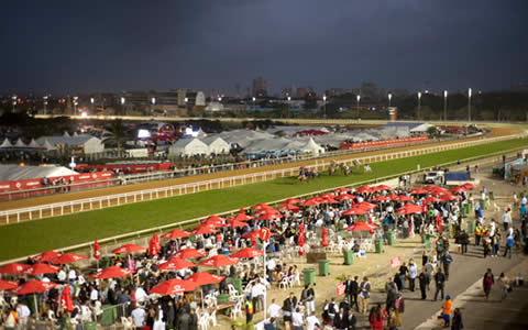 The finishing straight at Greyville