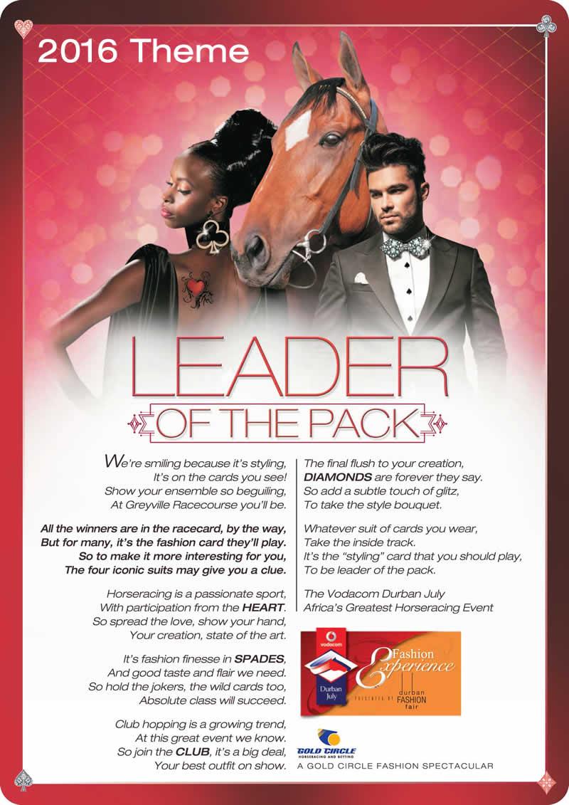 The Fashion Theme for 2018 VodaDurban July Horse Race theme